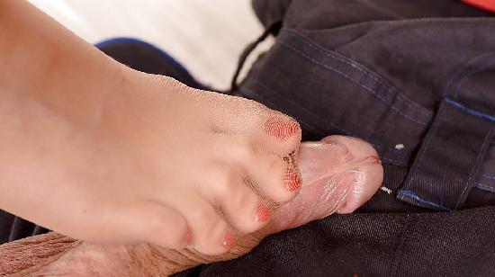 masturbation avec les pieds